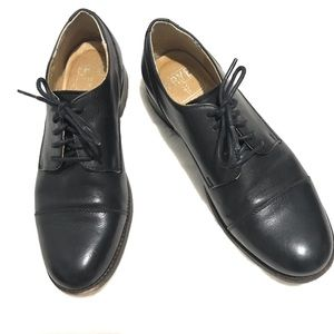 Frye Black Leather Women's Oxfords Size 8 EUC